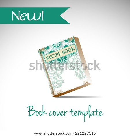recipe book cover template vector illustration stock vector royalty