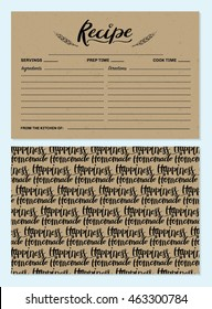 Recipe Card Template with Back Design
