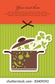 recipe sticker. vector illustration