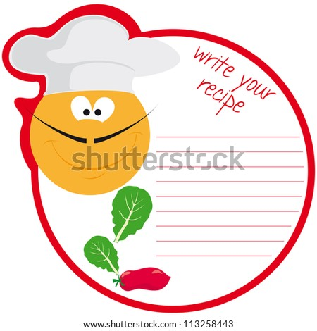 recipe template stock vector royalty free 113258443 shutterstock