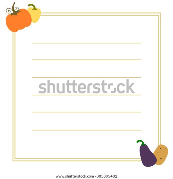 image about Printable Frame Template identified as Recipe Vector Body Card Printable Template Inventory Vector