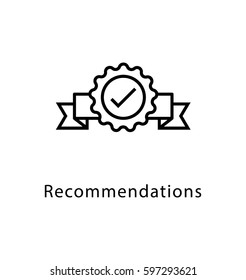 Recommendations Vector Line Icon