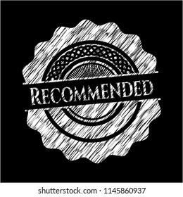 Recommended written on a blackboard