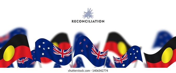Reconciliation Day in Australia celebration card
