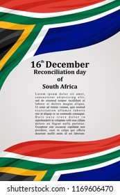 Reconciliation day of South Africa  vector illustration. Suitable for greeting card, poster and banner.