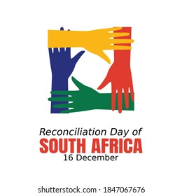 Reconciliation Day of South Africa Vector Illustration Vector Illustration. Suitable for greeting card poster and banner