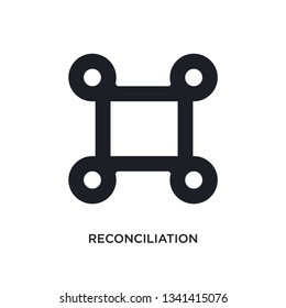 reconciliation isolated icon. simple element illustration from zodiac concept icons. reconciliation editable logo sign symbol design on white background. can be use for web and mobile