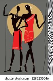Ilustraciones, imágenes y vectores de stock sobre Lovers in