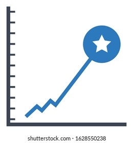 Record Breaking Performance on white Background, Exponential growth Vector Icon design Concept,
