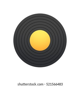 The record for gramophone, vinyl vector illustration