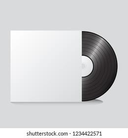 Record mock up vector design