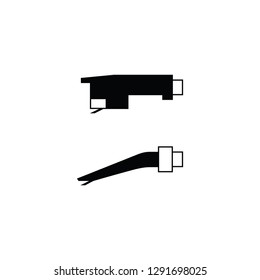 Record player needle flat vector pictogram.