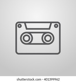 Recording. Dictaphone. Music player. Vector.