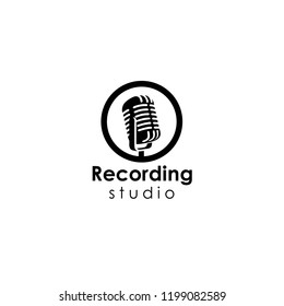 recording studio logo template