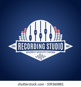 Recording studio logo template