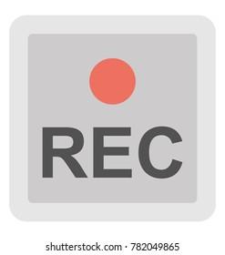Recording Vector Icon
