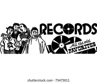 Records 3 - Retro Ad Art Banner