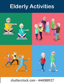 Recreation and activities for Senior and Aging Adults. Lifestyle for Senior Citizens.