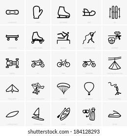 Recreation icons