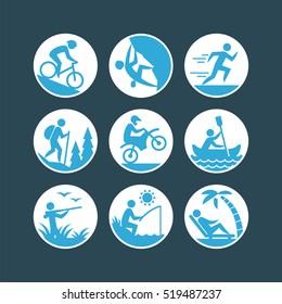 Recreation icons set.