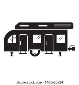 Recreation motorhome icon. Simple illustration of recreation motorhome vector icon for web design isolated on white background