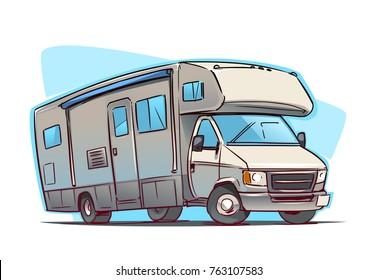 Recreation Vehicle cartoon illustration