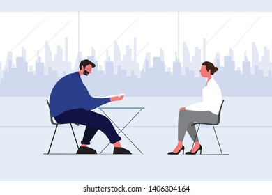 The recruiter interview the candidate