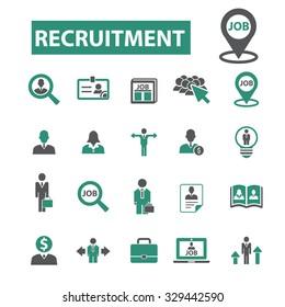 recruitment, job, CV, career, hr icons