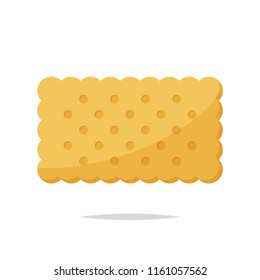 Rectangle cracker biscuit vector isolated