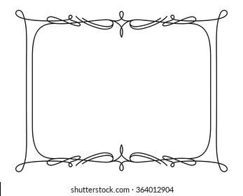 simple frame design. Rectangle Frame, Simple Frame Ornament, Decorative Design Element In Retro  Style, Vector Certificate