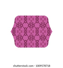 rectangle with pattern graphic seamless background decoration