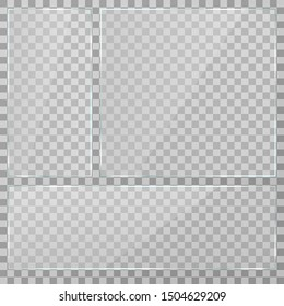 Rectangle. Rectangles with transparency. White transparency. The illustration is drawn on a checkered background.