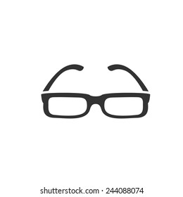 rectangle shape glasses icon. Vector illustration.