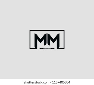 rectangle shape line MM logotype