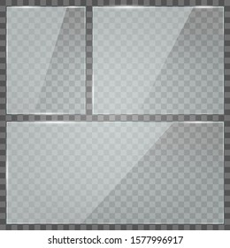 Rectangles with transparency. White transparency. The illustration is drawn on a checkered background.