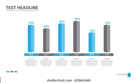 Rectangular bar chart Infographics vector illustration