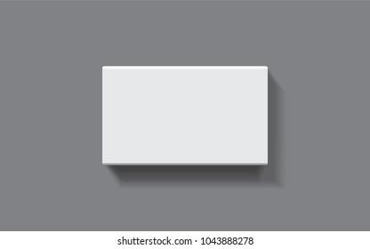 rectangular box on a dark background top view