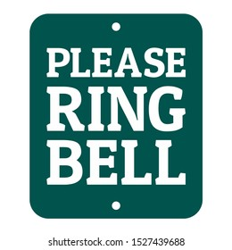 Rectangular custom Please Ring Bell Sign