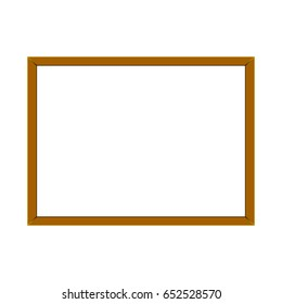 Rectangular frame for a picture on a white background, vector illustration