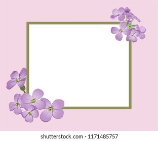 rectangular frame with purple flowers