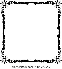 Rectangular frame with snowflakes. Vector.