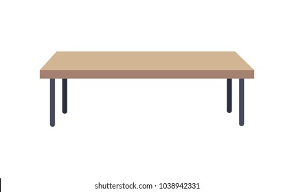 Bon Rectangular Shaped Table, Used To Place At Living Rooms, Long Low Table  Made Of