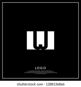 rectangular square shape JJ logo letters design concept