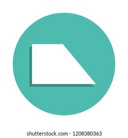 rectangular trapezoid icon. Elements of geometric figure in badge style icons. Simple icon for websites, web design, mobile app, info graphics on white background