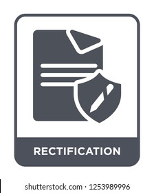 rectification icon vector on white background, rectification trendy filled icons from Gdpr collection, rectification simple element illustration