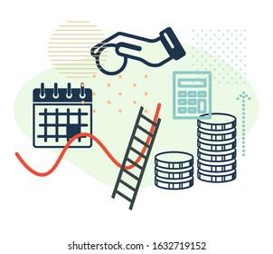 Recurring Deposit Benefits - Illustration as EPS 10 File