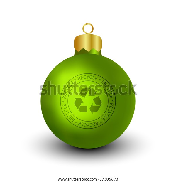 Recyclable Christmas Bauble (Vector)
