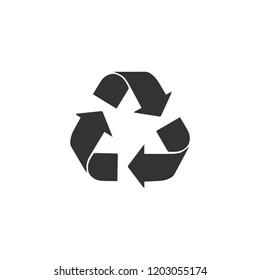 Recycle arrow. Icon Flat