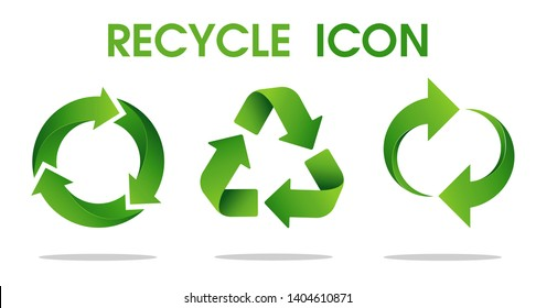 Recycle arrow symbol Means using recycled resources. Vector Icon on a white background.