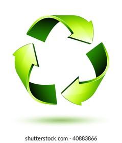 Recycle Arrows. Recycle symbol